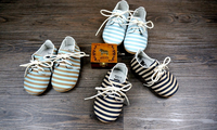 stripe print pattern dull finish real leather baby shoes, moccasin,Baby toddler shoes, for Girl and boy
