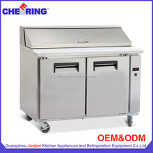 Stainless steel commercial chiller freezer, bar style refrigerator
