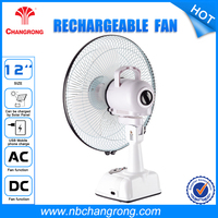 Plastic ABS 6V4.5AH table mini rechargeable battery powered window fan with light