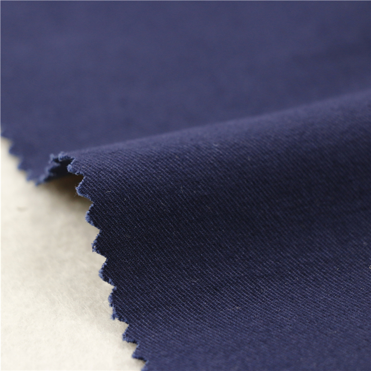 21x21+70D/140x74 264gsm 144cm deep sea blue double cotton stretch twill 2/2S stripe cotton fabric textile fabric factory