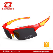 2015 Hot popular custom logo with blue coating lens cool men cycling running polarized sports sunglasses