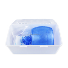 First aid kit bag valve mask manual resuscitator for emergency case with oxygen tubing