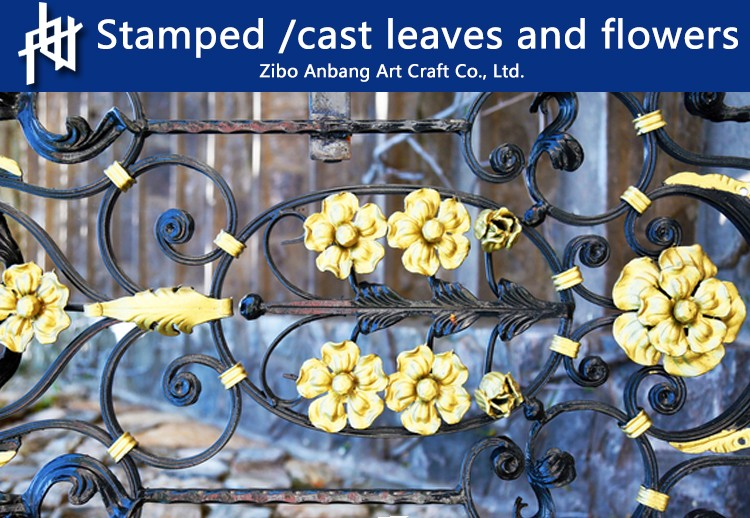 Wholesale ornate stamped cast leaves