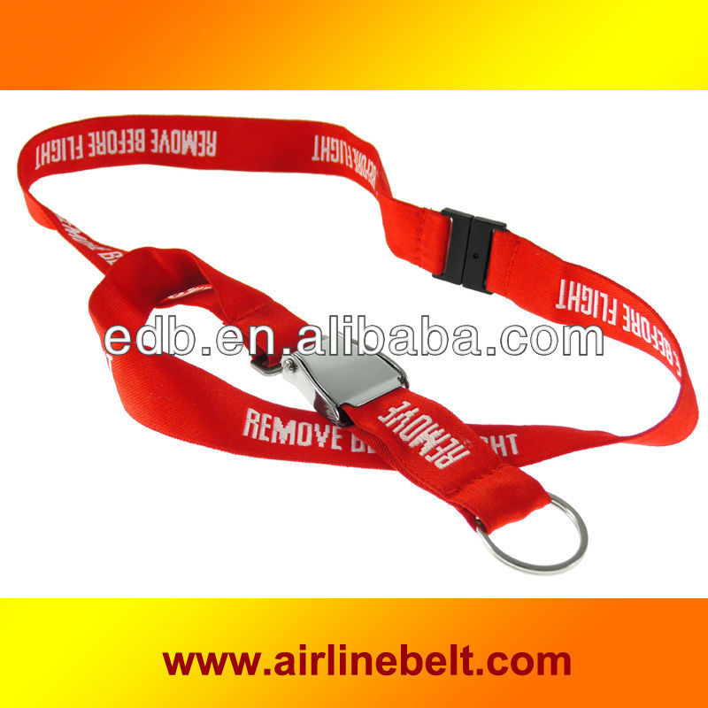 Unique airplane buckle seat belt lanyards