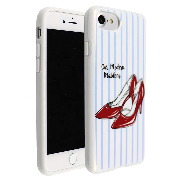 Fashion Style Red High Heels Pattern biodegradable <strong>Phone</strong> Cover For Girl