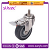swivel rubber coated wheel