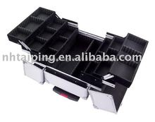 Rolling Train Beauty Makeup Case Cosmetics aluminum case drawers trolley TPH-1038S