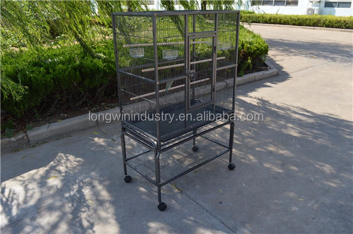 Fancy large rolling parrot bird cage
