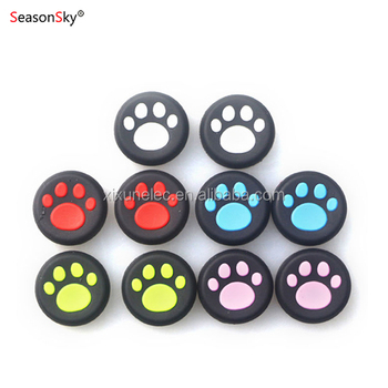 Xixun Silicon Cat footprint Thumb Stick Grip Joystick cover for PS4
