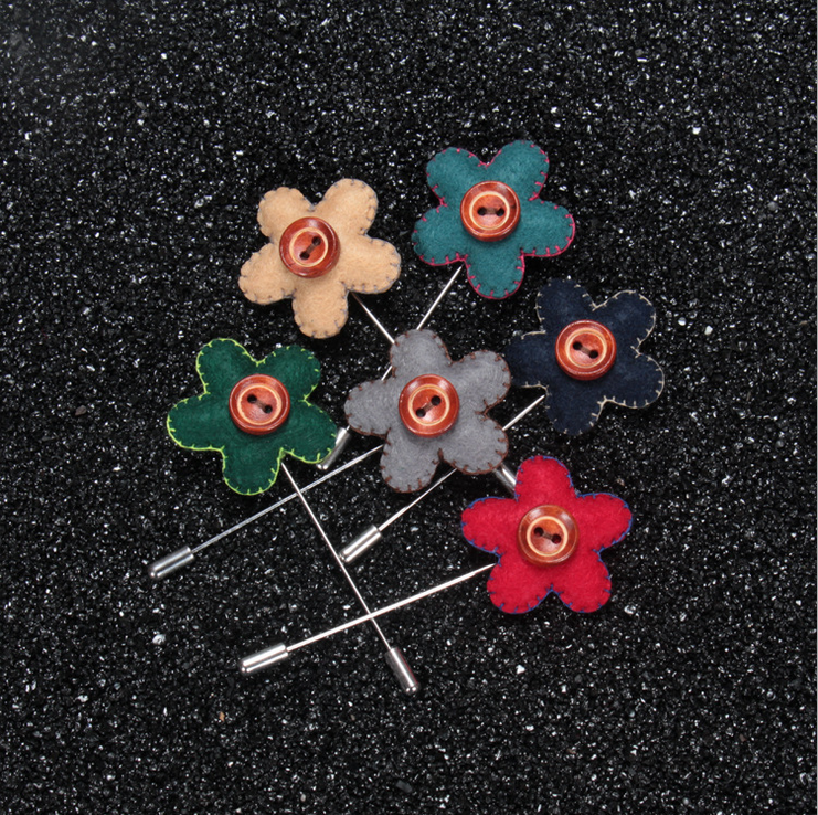 Modern fashion fabric colored brooch wedding cheap brooches in bulk