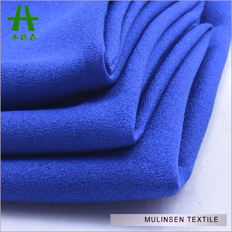 Mulinsen Textile High Quality Solid Dye Soft Touch Silk Like ITY Chiffon Georgette Fabric For Garments