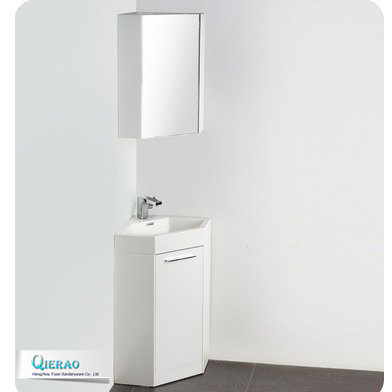 14 Inch Cheap Corner Cabinet PVC Bathroom Vanity with Medicine Cabinet