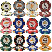 Best Quality Customized 10 Color Available European Poker Chips