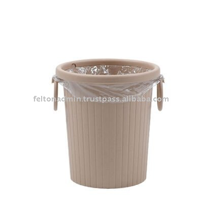 Circular Waste Bin with Clips and Handle