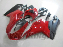 Injection Body Fairing for Ducati 848 Evo Red Black ABS Plastic Cowling Kit for Ducati 848 1098 1198