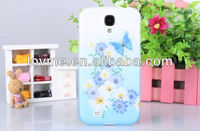 For Samsung Galaxy S4 i9500 Printed Flower Butterfly Hard Plastic Phone Case Cover