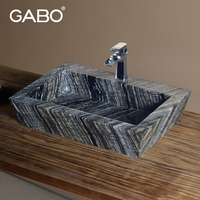 Hot Sale Artistic Countertop Marble Vessel Sink Used in Bathroom and Kitchen