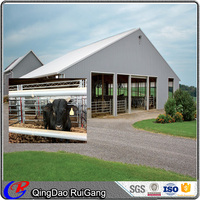 Low Cost Prefabricated Steel Structure Dairy