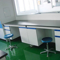 2014 the latest steel wood lab side table /side bench / laboratory furniture