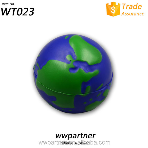 Hot Sell PU Foam Earth Globe Stress Balls