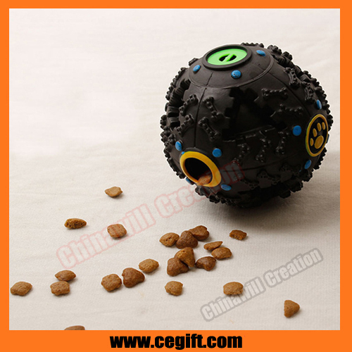 Pet leakage ball with voice,dog snack ball of pet play with thrower