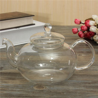 Hot Sale Useful 800ml Flower Coffee Glass Tea Pot Large Blooming Chinese Glass Teapots Heat Resistant Glass Tea Pots Infuser