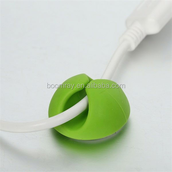 Hot Sale new shape plastic round electric adhesive wire rope holder USB data wire fixing u type plastic cable clip