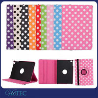 Newest For iPad Mini4 Smart Zone Polka Dot 360 Rotary Leather Stand Case