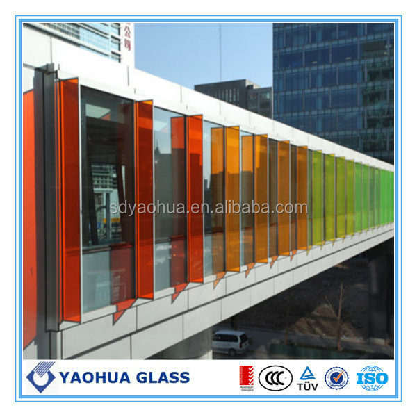 Clear, Milky White, Opaque White, Bronze, Ocean Blue, Yellow, Black, Blue Green Colored Laminated Glass
