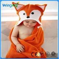 Alibaba Custom Factory Home Textile Wholesale baby Cotton Hooded Baby Towel