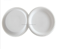 paper plate raw material restaurant round disposable plate