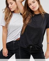 Wholesale Plain White Women T Shirt Custom Bulk Cotton Lady Tee Shirts With Step Hem
