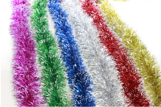 2015 Christmas tree decoration outdoor garland ribbons colorful garland christmas ribbons