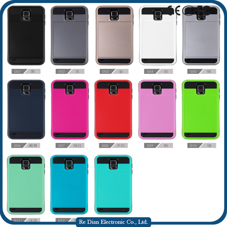 Hot selling Hybrid PC+TPU Mobile Phone Case Cover for Samsung Galaxy S5 i9600