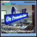 P6-16*128 Monochrome or Multi-Color LED CAR Window Display LED ticker board LED sign LED advertising billboard