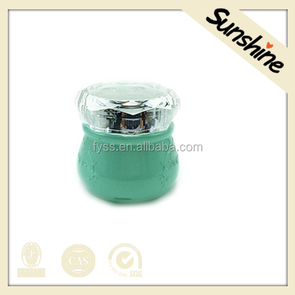 Manufacture skin care cosmetic cream empty glass containers with lids