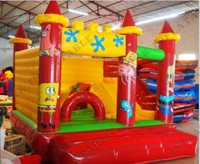 Kids Play Land Inflatable Castle Jumper With Inside Slide