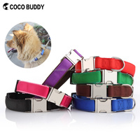 Hot selling Personalized Metal-Buckle Collar Adjustable Nylon Webbing Decorative Dog Collar