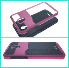 In stock TPU + PC bank credit card slot wallet cell phone case for Alcatel Fierce 4