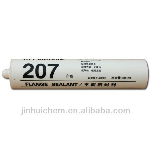 207 Silicone flange sealant , Excellent adhesion and water resistance RTV silicone sealant 207