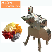 cube vegetable cutting machine/carrot cuber/vegetable fruit cube cutter