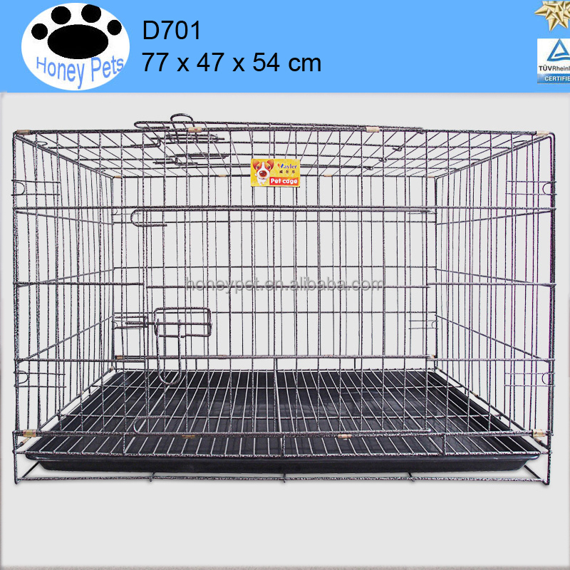 Folding Wire Dog Crate Two Door Collapsible dog cages gumtree edinburgh