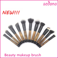 New design retro fashion cosmetic brush set,special bamboo handle makeup brush,taklon hair make up brush sets