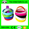Mixed Colors Blank Silicone Wristbands Rubber Bracelets