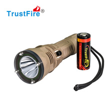 TrustFire DF001 650LM Professional dive torch diving to 100M, waterproof flashlights powered by CREE torch light with CE FCC