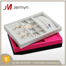 Stackable good quality custom jewelry trays for sale