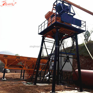 35m3/h mini ready mix HZS35 concrete batching plant