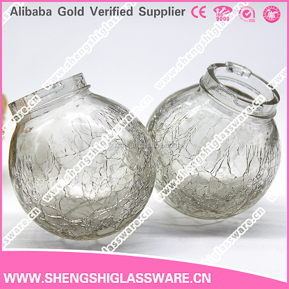 Spherical clear decorative oil lamp chimney glass