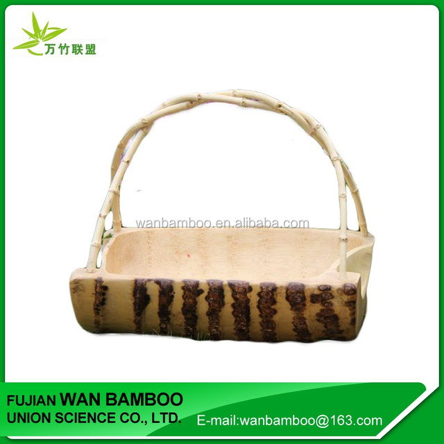 Cheap Disposable Bamboo Picnic Fruit Basket