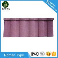 Cheap Roman red color metal roof tile,roofing materials with high quality